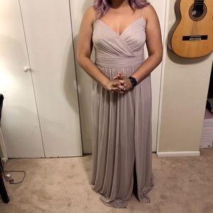 Taupe Bridesmaid dress
